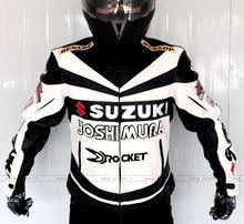 Гонки на мотоциклах костюм Профессиональный Классический гоночный куртка для SUZUKI ИСКУССТВЕННАЯ кожа комбинезоны зима мотоциклов езда одежды