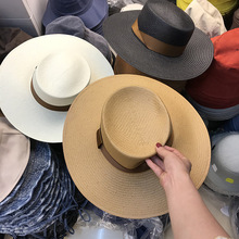 ea93658046eed axi5-panama hat summer flat British style men women worker handmade wind  brim fedoras cap