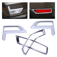CITALL 4pcs Car Chrome Plated Front &Rear Fog Light Lamp Cover Trim fit for Nissan Rogue XTrail 2017 2018 Facelift model