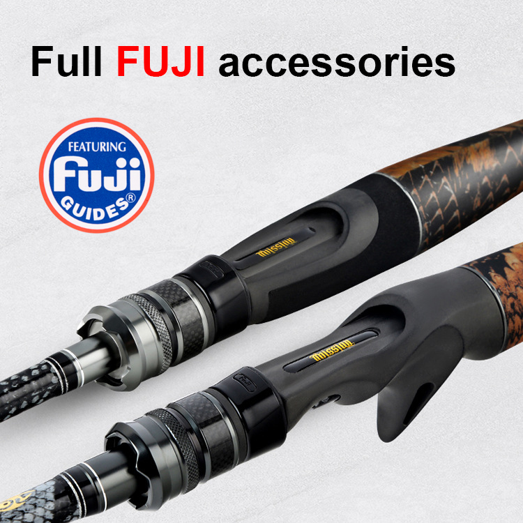 New arrive python carbon lure rod squat fishing rod Casting Spinning Full FUJI parts K type