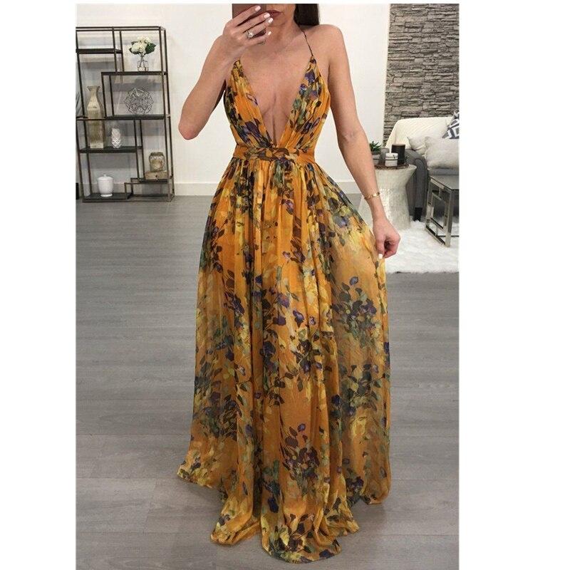 053975083881a Pk Bazaar floral ethnic printed women long maxi dresses bohemia v ...