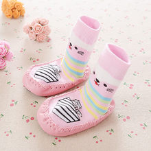 2018 Cute Cartoon Kids Socks Toddler Baby Anti-slip Boys Girls Socks Shoes Boots Slipper Unisex Short Socks For Children(China)