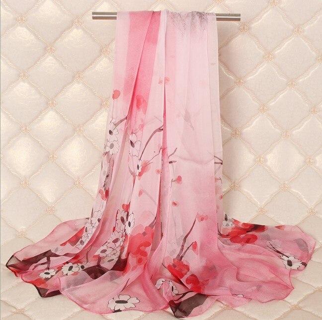 100% foulards en soie femmes 2019 printemps grand Long châles à envelopper en soie femme marque de mode fleur imprimé Pashmina foulards dame écharpe