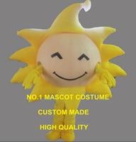 the yellow sunny sun mascot costume adult size cartoon golden sun theme school performing costumes carnival fancy dress 2626