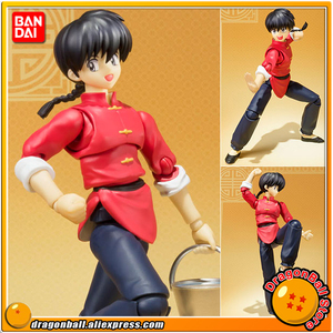 "Japan Anime ""Ranma 1/2"" Original BANDAI Tamashii Nations S.H.Figuarts / SHF Action Figure - Ranma Saotome(China)"