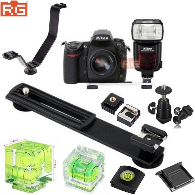 Flash Hot Shoe Digital Camera ARMS Bracket/Hot Shoe Spirit Level for LED Flash Camera DSLR Camera Photography Accessories