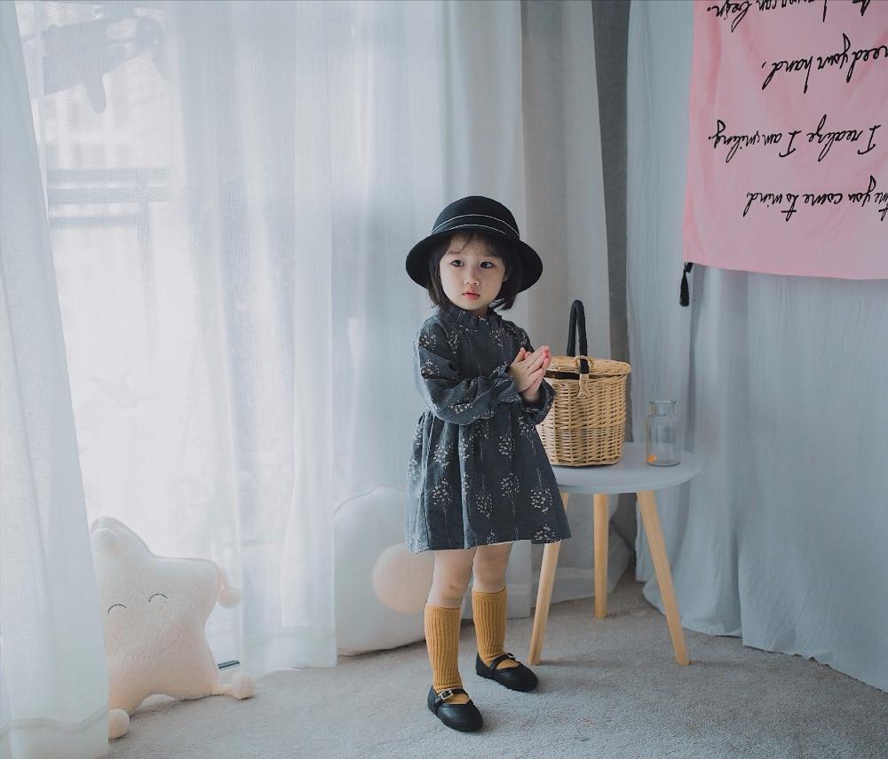 2017 new girl dress long-sleeved cotton small floral princess dress childrens autumn and winter dress girl dress