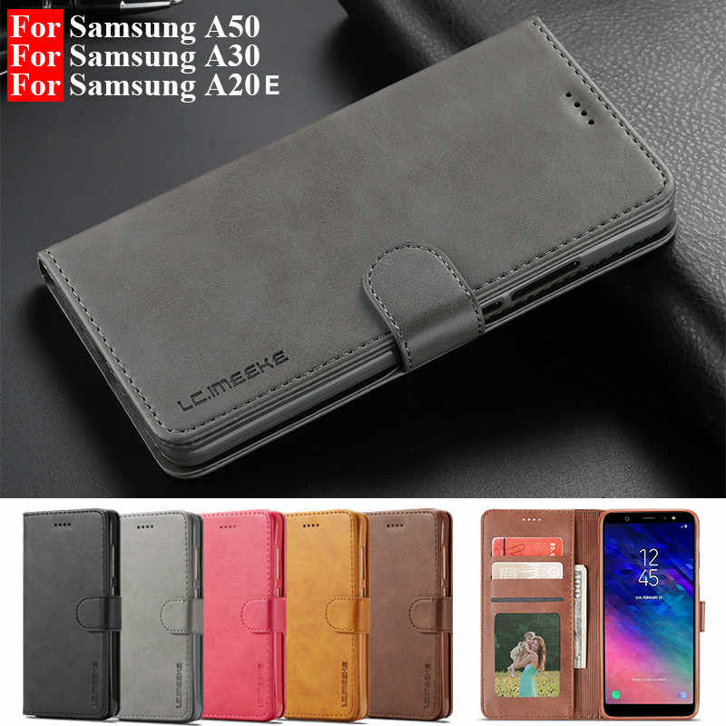 Leather Flip Case Voor Samsung A70 A51 A50 A30 A20E Case Voor Galaxy A6 A7 A8plus A9 J4 J6 2018 s8 S10Lite S9 S7 Note9 Cover Coque