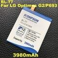3980mAh BL-T7 For LG Optimus G2 Battery D802 D800 D801 VS980 LS980 P693 D803 Batteries