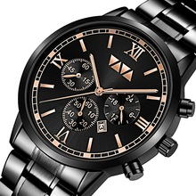 лучшая цена Top Brand Luxury Mens Watches Fashion Man Waterproof Analog Watch Male Stainless Steel Casual Quartz Watches Black Wristwatch