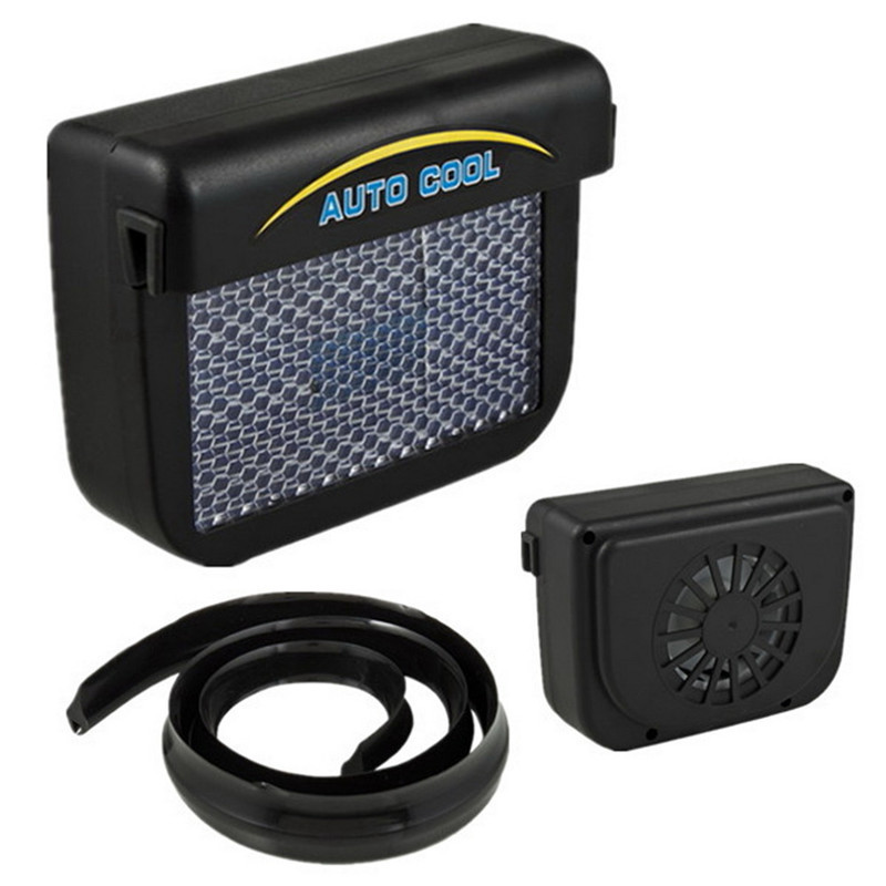 MOONBIFFY Upgrade ABS Auto Fan Solar Power Auto Fenster Ventilator Kühl Solar Abluftventilator mit Gummi Stripping Auto Zubehör