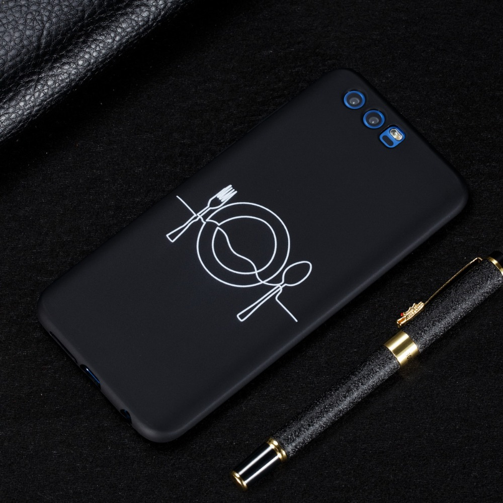 For Huawei Honor 6X 7X 8X 9 10 Lite Fashion Personality Simple Stick Figure Soft TPU Phone Case For Huawei Honor 8 8C PLAY Coque in Fitted Cases from Cellphones Telecommunications