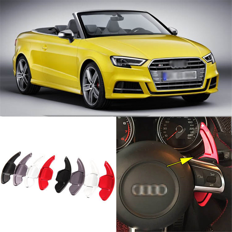 1pair Alloy Add-On Steering Wheel DSG Paddle Shifters Extension For Audi S3