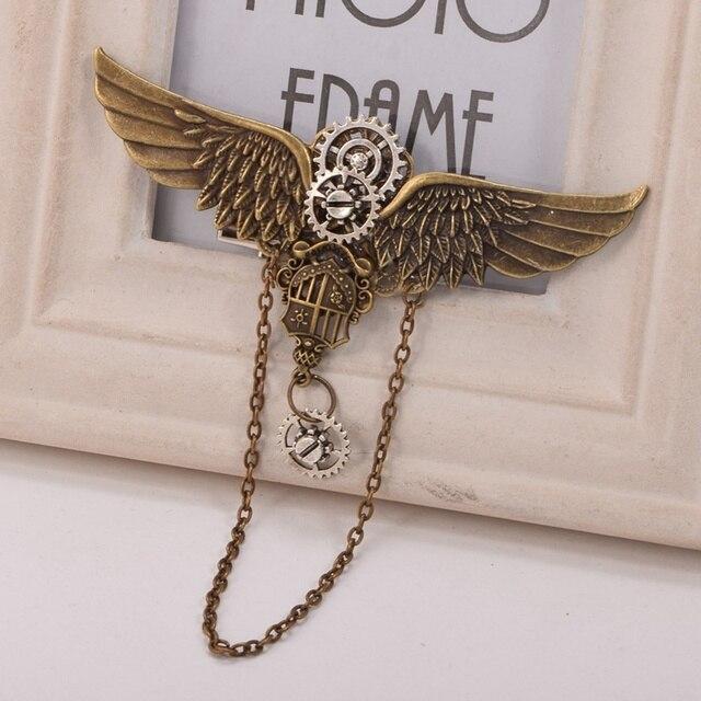 Заколка с крыльями металлическая 5