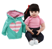 NPKCOLLECTION 20inch 50 cm silicone reborn dolls wholesale lifelike baby girls newborn fashion doll Christmas gift new year gift
