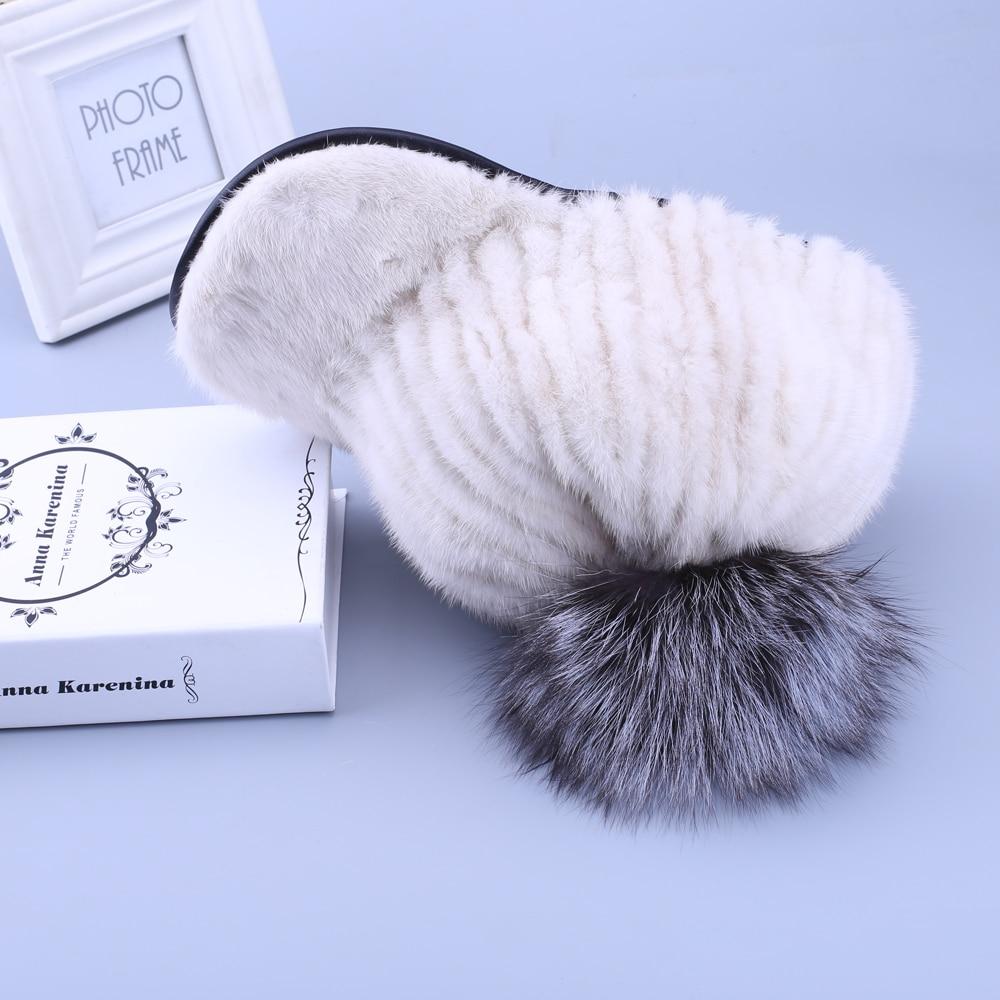Меховая шапка из натуральной норки женская зимняя норковая шапка рыцарская шапка Термальная женская шапка - 3