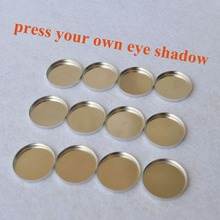 1lot= 12 pieces Empty Metal Pans 26mm Pan Size, 26mm eye shadow tins DIY Press your own eyeshadow