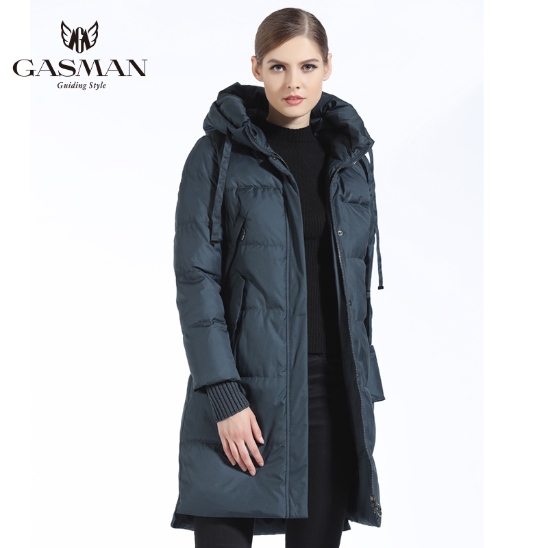GASMAN 2018 Winter Women Bio Down   Parka   Brand Female Long Winter Coat For Women Hooded Down Fashion Jacket New Winter Collection