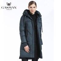 GASMAN 2018 Winter Women Bio Down Parka Brand Female Long Winter Coat For Women Hooded Down Fashion Jacket New Winter Collection
