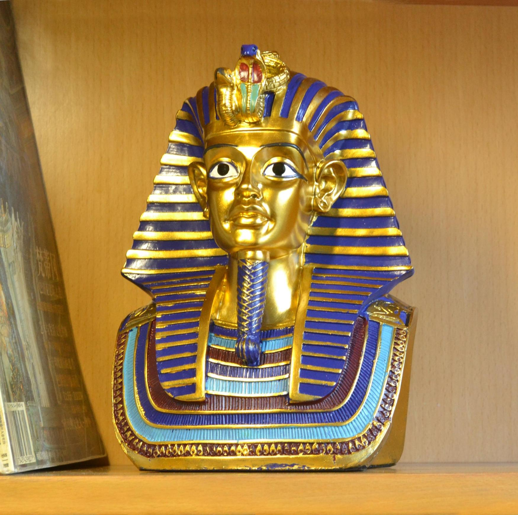 Pharaoh Of Egypt Sculpture Art Decoration Crafts Ornament