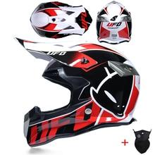 Yeni tasarım motosiklet koruyucu dişliler kir bisiklet yarışı Motocross kaskları kros motosiklet kask motokros