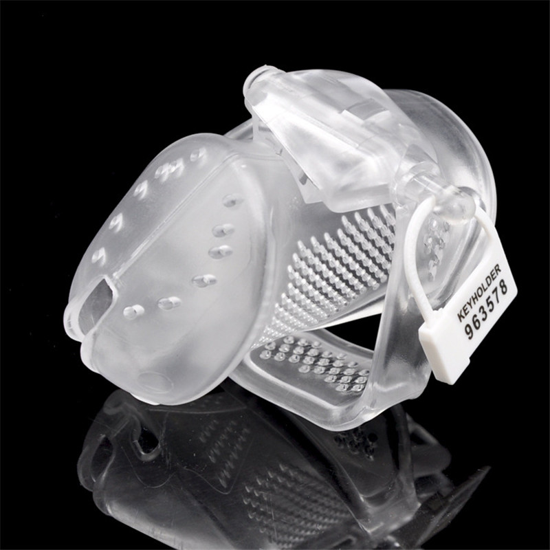 New Design 3D Cock Cage,Penis <font><b>Sleeve</b></font>,Plastic lockable Male Chastity Device With Lock,Penis <font><b>Rings</b></font>,<font><b>Adult</b></font> Games <font><b>Sex</b></font> <font><b>Toys</b></font> For Men image