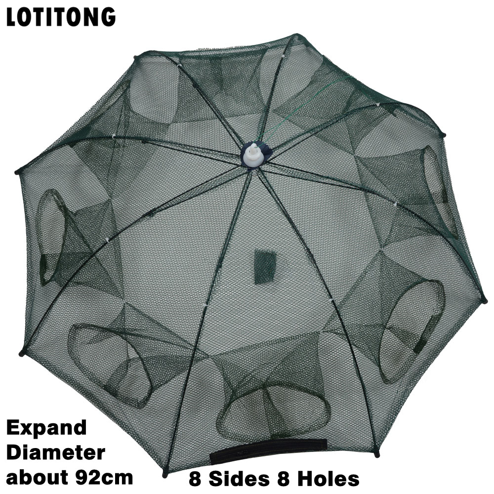 LOTITONG Automatic Fishing Net Shrimp Cage Nylon Foldable Crab Fish Trap Cast Net Cast Folding Fishing Network Free shipping