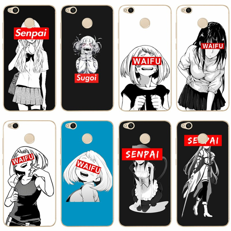 Sugoi Senpai Anime waifu picture mobile phone cover for redmi4A 4X 5 5a 5Plus note4 4X 5 for xiaomi4 5 5X 6X 8 TPU soft shell