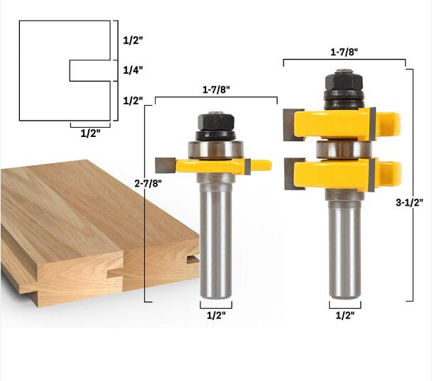 Carbide 1/2 T Type 3 teeth Tenon Cutter cnc router bits wood cutter Woodworking tools metal cutter high quality end mill 2PCS 5pcs woodworking 3 flute shank 6mm cnc router bits mill spiral cutter tungsten carbide density board carving tools cel 28mm