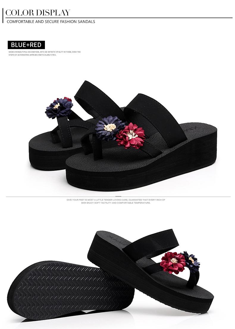 7884d8135b6 XMISTUO Summer Slippers for Women Fashion Flip Flops with Flower ...