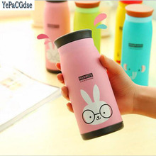 Creative Cartoon Cute Pot Cup Double Stainless Steel Children Vacuum Thermal Mug 350ml