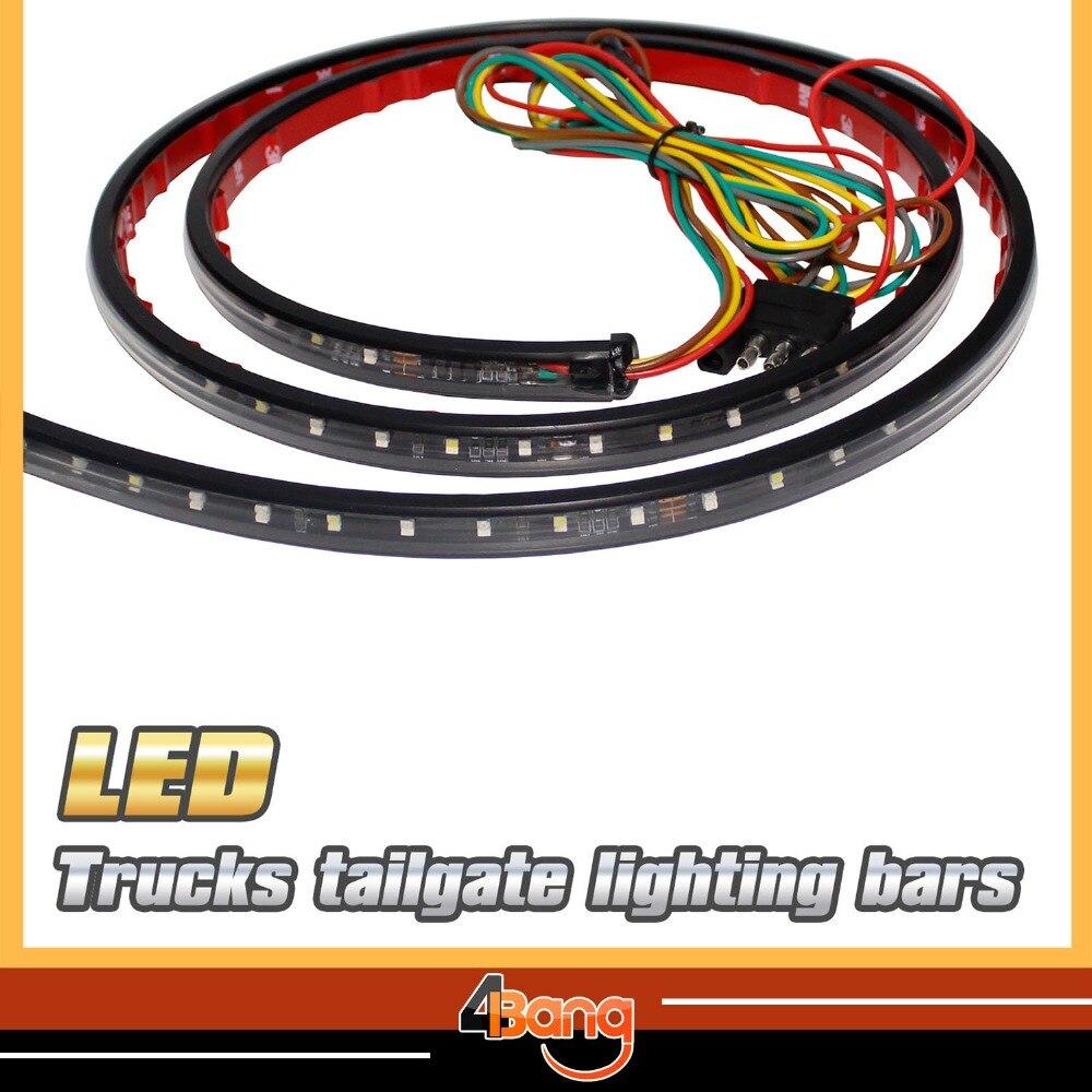 60 Car Tailgate Red White LED Light Bar For Backup Reverse Brake Tail Turn Signal Light For F150 F250 RANGER ROVERBest Sales!
