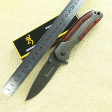 New Folding Knife Browning Pocket Knife 3CR13MOV Blade Survival Hunting Knifes Tactical Camping Knives Outdoor Tools DA43