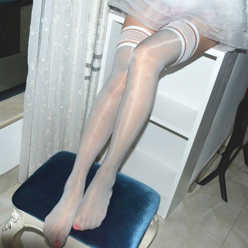 Flashing Silk Stockings Thigh High Stocking Shine Multi-color Silk Stockings Top