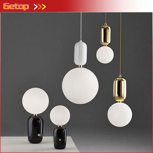 Nordic Post-Modern Single-head Glass Ball Small Pendant Light Living Room Bedroom Restaurant Round LED Bar Lamp Art Lighting nordic modern 10 head pendant light creative steel spider lamps unfoldable living room dining room post modern toolery led lamp page 10
