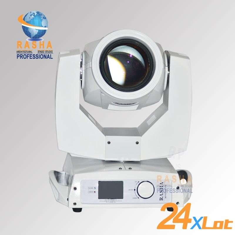 24X Lot chine fournisseur de lumière de scène 20 canal DMX 7R 230 W faisceau de tête mobile Sharpy avec moteur 3 phases et lentille de revêtement 6 couches