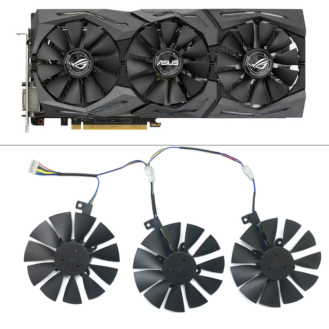 Ventilador de refrigeración ram para ASUS GTX1080Ti 1060 1070 GTX980Ti R9 390X, 87mm, novedad, ventilador de refrigeración de PC