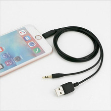 3.5mm jack Car Stereo Aux Cord Audio USB Charger Cable Data Charging Cord For iPhone 7 6s Plus SE 5S ipod 5 6 ipad Mini Air 2/4