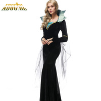 Luxury Vampire Costumes Halloween Costumes For Women Ladies Dresses Evil Queen Black Vampire Cosplay Costumes Vestido