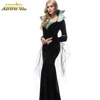 Luxury Vampire Costumes Halloween Costumes For Women Ladies Dresses Evil Queen Black Vampire Cosplay Costumes Vestido
