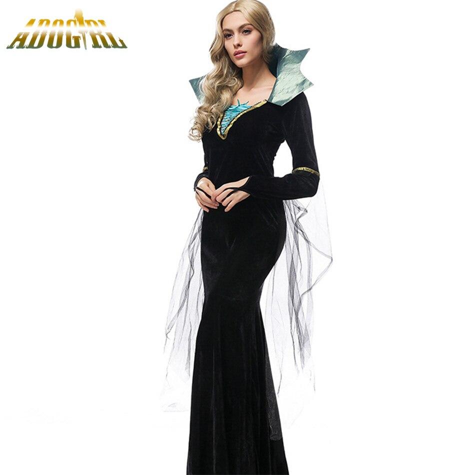 adogirl disfraces de halloween para mujeres vampiro disfraces seoras vestidos evil queen negro vampiro cosplay trajes vestido de festa