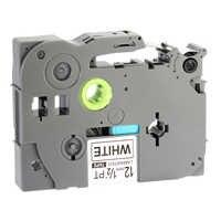 1PK Black on White Label Tape 12mm, Tze 231 P Touch Tape Compatible for Brother PT-D200 PT-D210 PT-H100 PT-H110 PTD400AD PT-1290