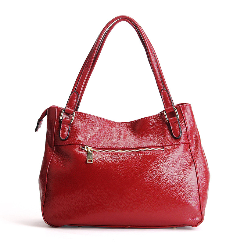 AODUX Europese Brand Echt Echte Koe Lederen Vrouwen Schoudertas Crossbody Mode Tas Handtassen Lange Strap Messenger Tassen Satchel - 4