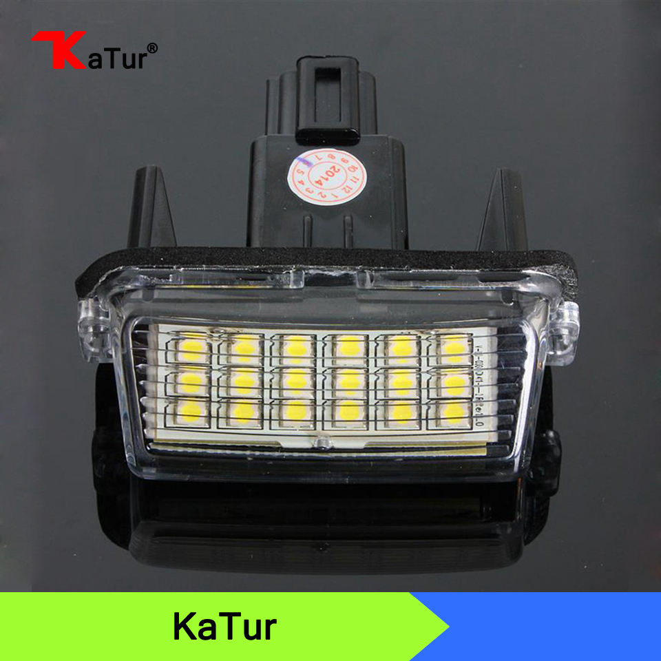 Error Free 18SMD LED License Number Plate Lights Lamp for Toyota Camry Yaris For Hybrid Car Styling 156 direct fit for kia sportage 11 15 led number license plate light lamps 18 smd high quality canbus no error car lights lamp