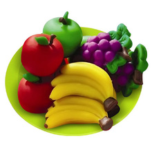 Modeling Clay 8 Colors Colorful 3D Clay Kids Toy Plasticine Clay Play Dough Set Puzzle Fruit