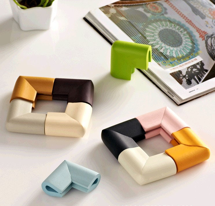 4Pcs/lot U-shaped Corner Guard Protection Baby Safety Glass Coffee Table Corner Collision Protective Children