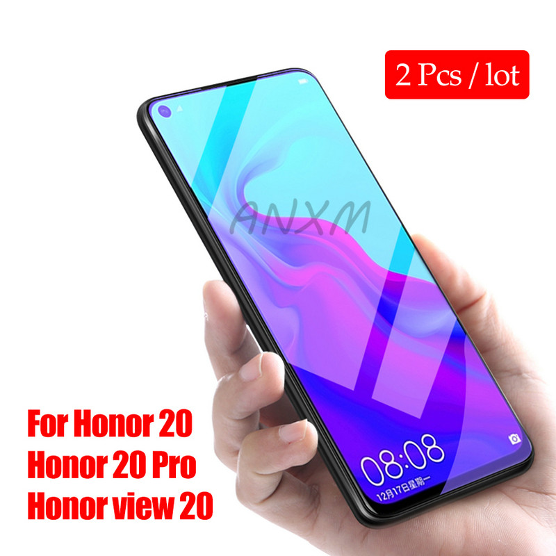 2pcs/lot Tempered Glass For Huawei Honor View 20 Pro Screen Protector 9H Anti Blu-ray Glass For Honor 20 Pro V20 Protective Film