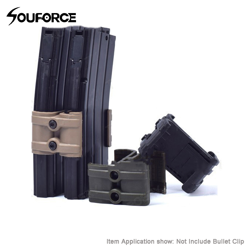 Rifle Gun Magazine Parallel Connector Black/Mud/Green Color with Wrench for Tactical Hunting Accessories