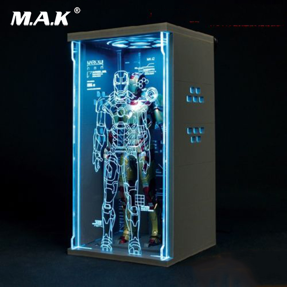 1/9 Scale Display box Acrylic Hall of Armor Dust-free Box Fit 1/9 Iron Man Figure