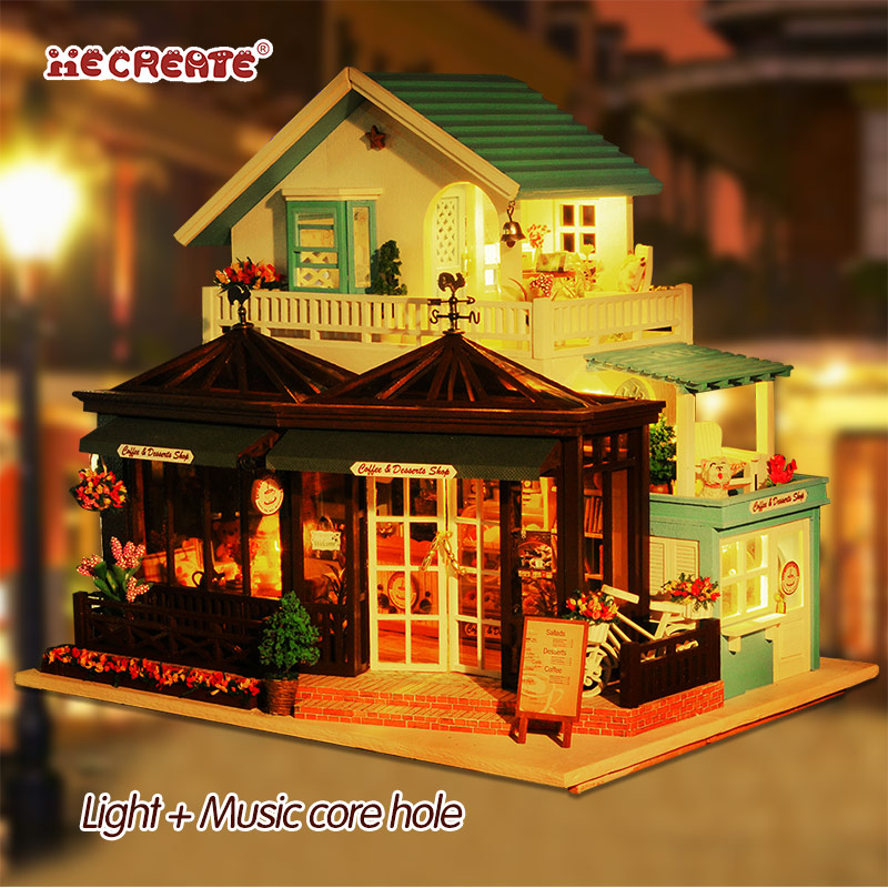 Girl Diy Wooden Wooden House Doll House Miniature DIY Dollhouse With Furnitures Kids Toys For Children